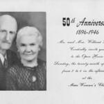 1946 Willard & Laura 50th Anniversary Announcement