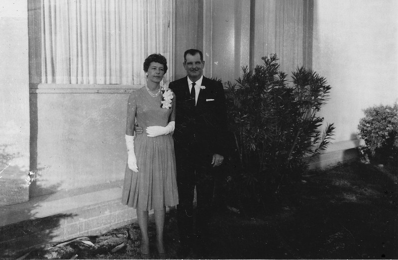 Norris & Mary on their Wedding Day (1963)