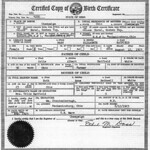 Mary's Birth Certificate