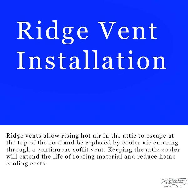 Ridge Vent Installation