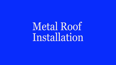 Replacement Metal Roof Installation and Process
