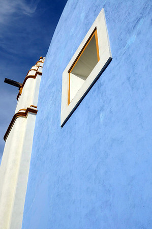 church, blue like the sky