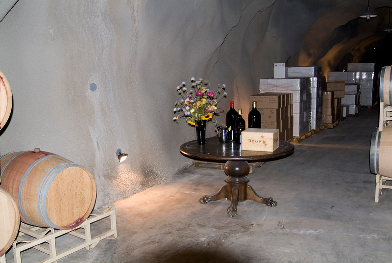 Inside the caves at Brown Estates