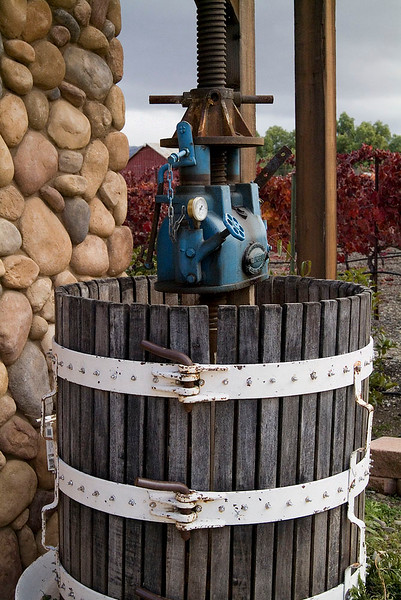 Old (but functional) wine press outside Page Mill Winery