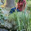 Rosa Rivera of Fitchburg at Virginia Thurston Healing Garden in Harvard, MA on Wednesday, September 25, 2019. SENTINEL & ENTERPRISE/JOHN LOVE