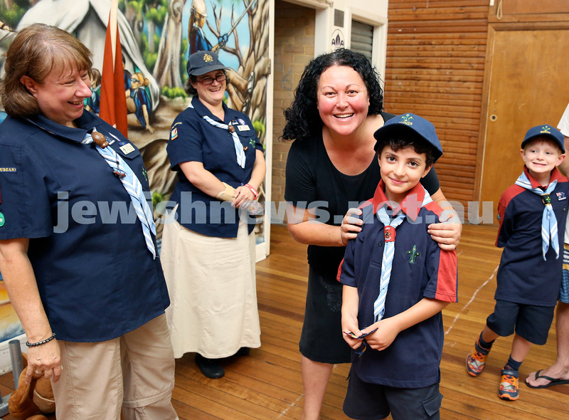 Investiture of cubs into The 3rd Rose Bay Judean Joey Mob Scouts group. Pic Noel Kessel.