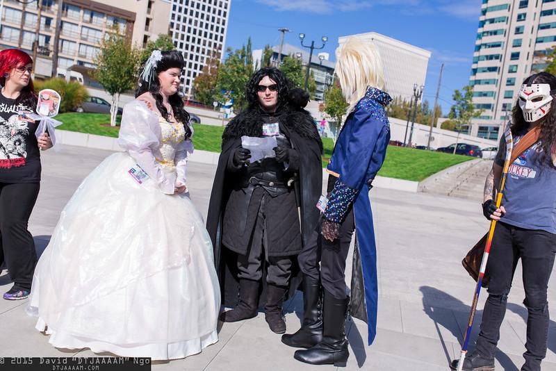 Sarah Williams, Jon Snow, and Jareth