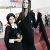 Wednesday Addams and Morticia Addams