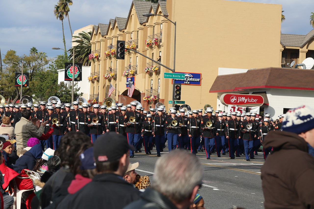 The Marine Corps Marching Band from Camp Pendleton