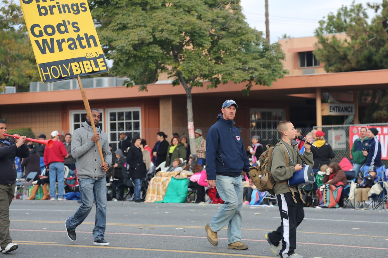 The Parade is preceded (and followed) by religious zealots.