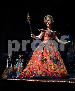 Texas Rose Festival Rose Queen Emily Evans practices her walk across the stage during rehearsal Thursday Oct. 19, 2017 for the Queen's Coronation at the University of Texas at Tyler Cowan Center.   (Sarah A. Miller/Tyler Morning Telegraph)