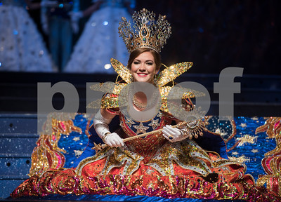 Texas Rose Festival Rose Queen Emily Evans practices her bow during rehearsal Thursday Oct. 19, 2017 for the Queen's Coronation at the University of Texas at Tyler Cowan Center.   (Sarah A. Miller/Tyler Morning Telegraph)