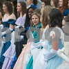 Azalea Belles, a group of 35 high school girls who serve as city ambassadors during the Azalea & Spring Flower Trail, are pictured at the opening ceremony for the 59th Azalea & Spring Flower Trail in Tyler, Texas on Friday March 16, 2018. The trail is a three-week that draws tourists who come to see azaleas and other flowers grown in yards around Tyler's Azalea District neighborhood. <br /> <br /> (Sarah A. Miller/Tyler Morning Telegraph)