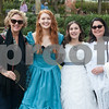 Christie Daugherty, Paisley Daugherty, 15, Mikala VanBuskirk, 15, and Aki VanBuskirk attend the opening ceremony for the 59th Azalea & Spring Flower Trail at a residential garden on Dobbs Street in Tyler, Texas on Friday March 16, 2018. <br /> <br /> (Sarah A. Miller/Tyler Morning Telegraph)