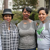 Sherri Boyd, Katina Young and Chasity Carter attend the opening ceremony for the 59th Azalea & Spring Flower Trail at a residential garden on Dobbs Street in Tyler, Texas on Friday March 16, 2018. <br /> <br /> (Sarah A. Miller/Tyler Morning Telegraph)