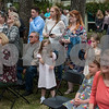 Families of Azalea Belles and tourists attend the opening ceremony for the 59th Azalea & Spring Flower Trail at a residential garden on Dobbs Street in Tyler, Texas on Friday March 16, 2018. The trail is a three-week that draws tourists who come to see azaleas and other flowers grown in yards around Tyler's Azalea District neighborhood. <br /> <br /> (Sarah A. Miller/Tyler Morning Telegraph)