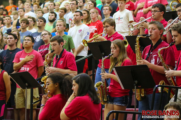 Rose Pep Band Performs the National Anthem