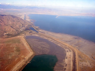 This is the beginning of the great Salt Lake.