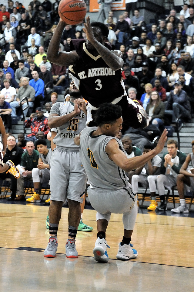 Gotta think that was an offensive foul...not much straight up jumping there Asante:)