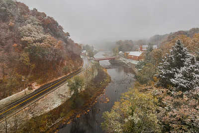 Rosendale, New York on a snowy October morning