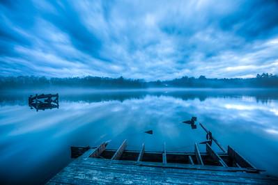 Dusk at Williams Lake