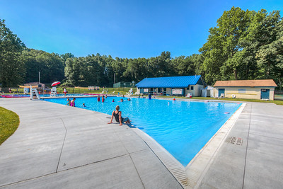New Rosendale Pool a few weeks after it opened.  Rosendale, New York, USA