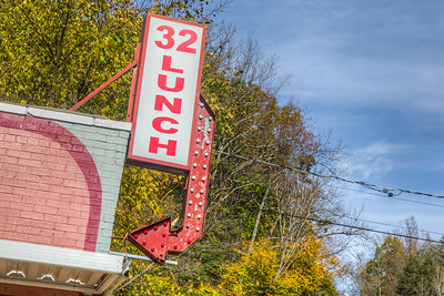 32 Lunch sign, Fann's Plaza, Rosendale, New York