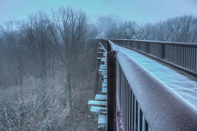 Foggy Frosty Rosendale Trestle