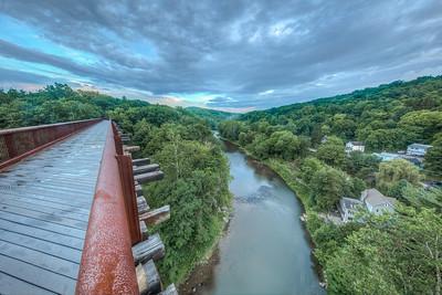 Rondout Creek from Rosendale Trestle, Rosendale, New York, USA