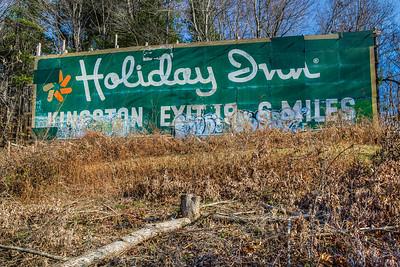 Holiday Inn Sign, Creek Locks Road, Rosendale, New York, USA