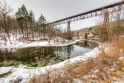 Rosendale Trestle Over Rondout Creek, January 2017
