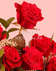 Red Rosed Image On Pink 9944.72