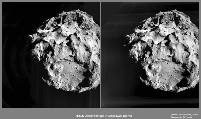ROLIS Descent Image in X-Eyed Stereo