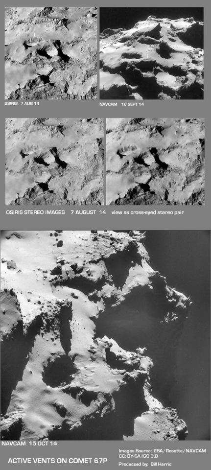 Comparison of Vents near Site J with recent imagery