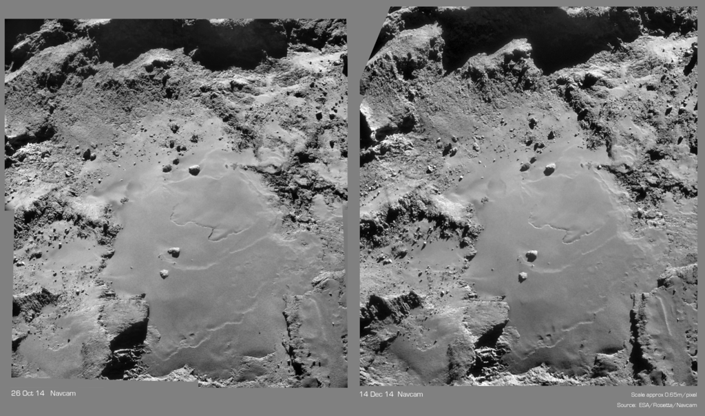 "Comparative montage of  Images on the ""Equatorial Plain"" of the Larger Lobe"