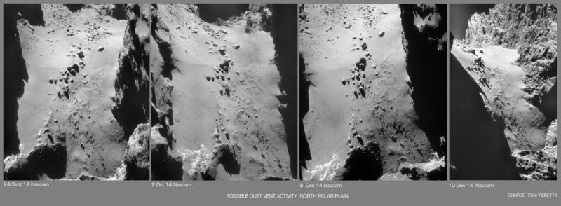 Dust Jet Vent Activity on North Polar Plain
