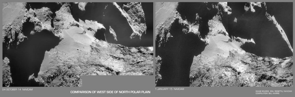 Comparison of West Side of North Polar Plain