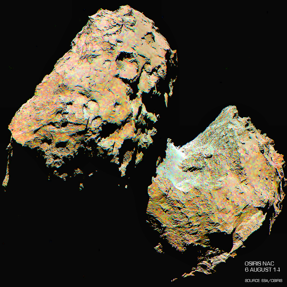 Enhanced and Saturated RGB color image of Comet 67P/C-G