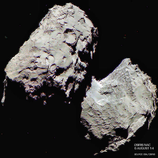 Enhanced RGB color image of Comet 67P/C-G