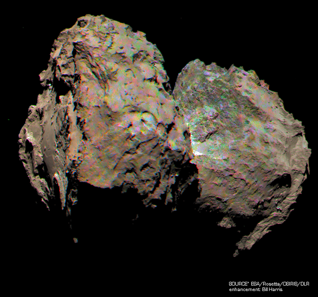 Processed Color Image of 67P/C-G
