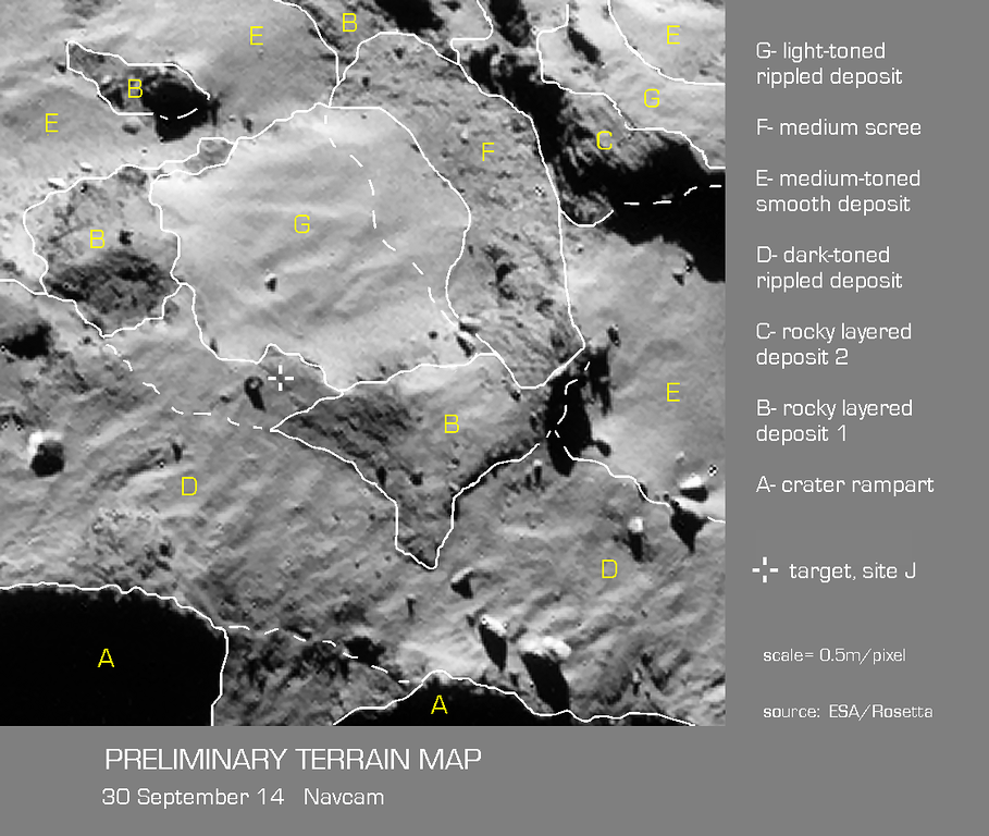Preliminary Terrain Map of Landing Site J