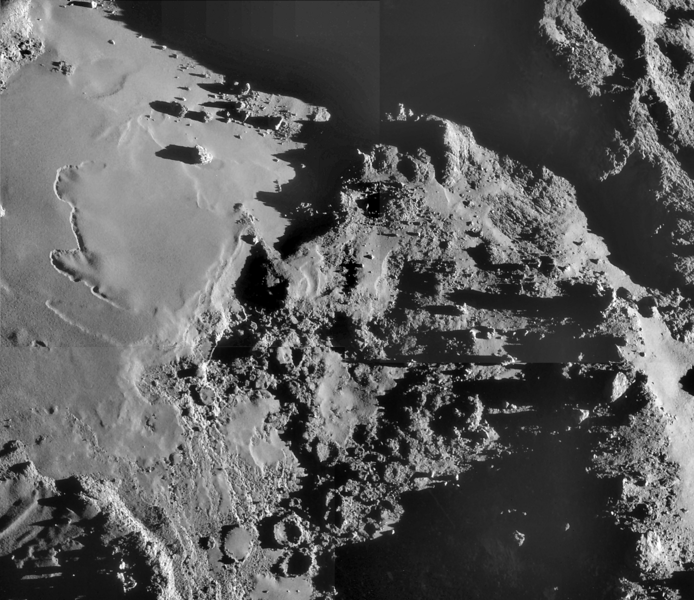 Four image montage of 18 October 14 Navcam sequence