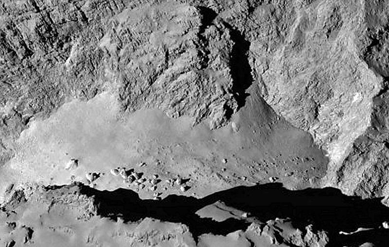 Active jet area in North Polar region on Comet 67P/CG