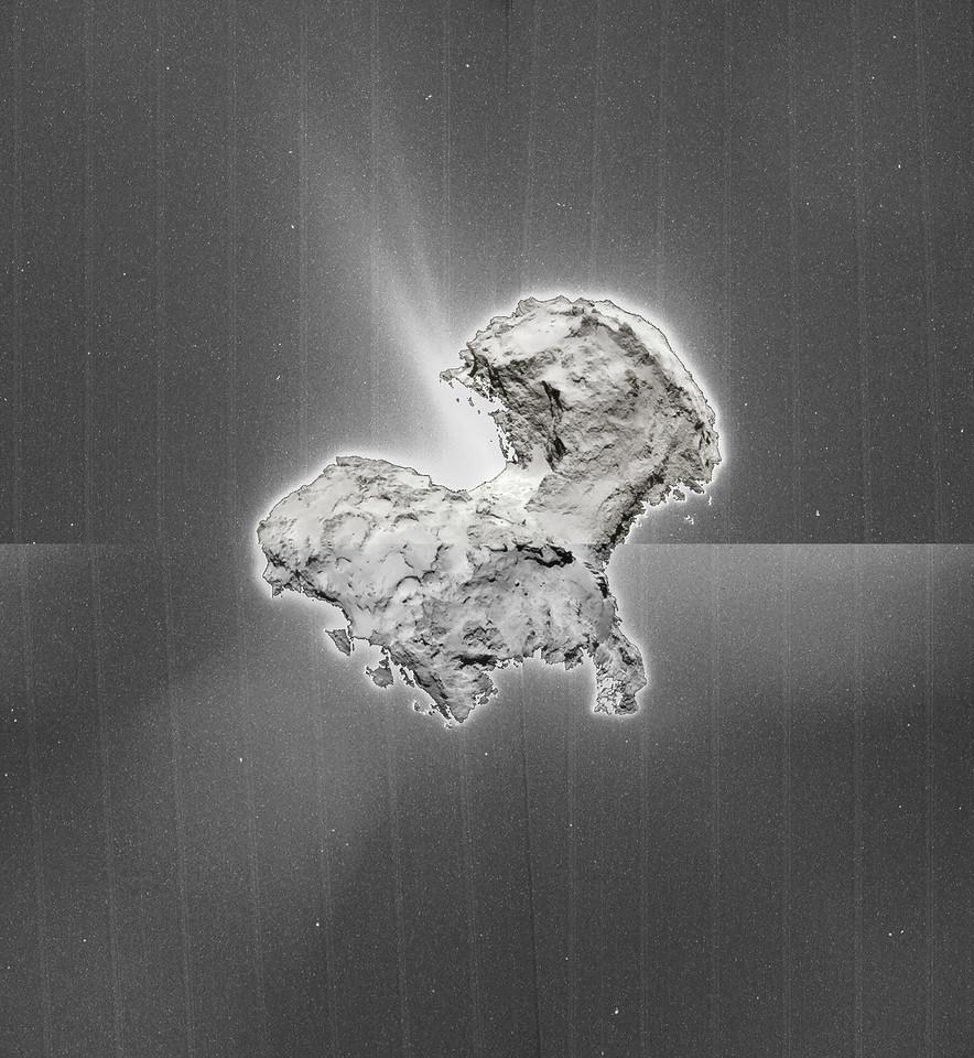 Comet P67/C-G  dust jets, full montage  2 Sept 14 NAVCAM