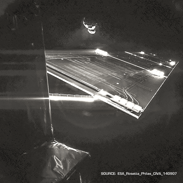 "Enhanced view of ""Selfie"" made by Comet 67P/C-G"
