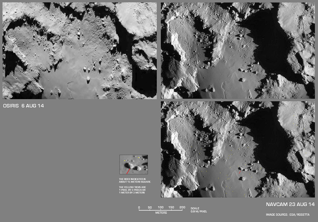 Changes in  One Area  on the Larger Sphere of 67P/C-G