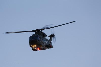 Merlin flying by