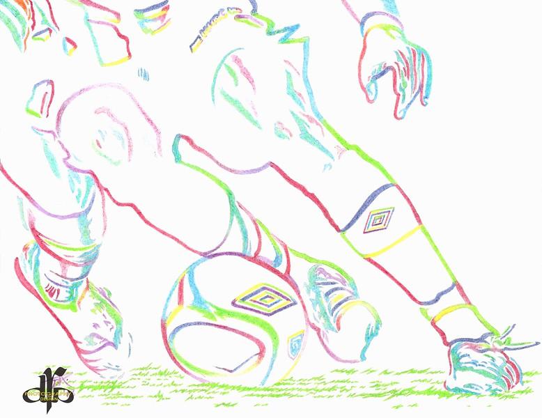 MIKE AZIRA Champ Feet 2 Drawing