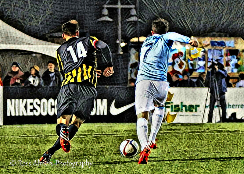 Villa and Van Schaik Soccer Art Two