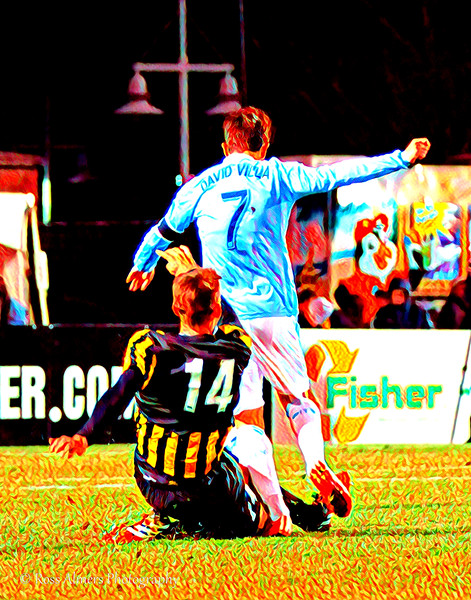 Villa and Van Schaik Soccer Art One